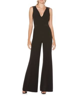 Lace Back Crepe Jumpsuit by Laundry by Shelli Segal