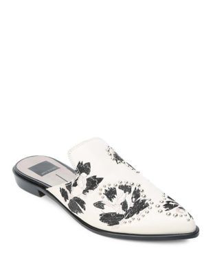Harmony Embroidered Leather Mules by Dolce Vita