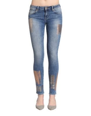 Adriana Galactic Patch Skinny Jeans 500087351616
