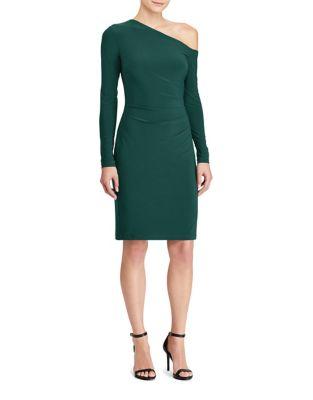 One-Shoulder Jersey Sheath Dress by Lauren Ralph Lauren
