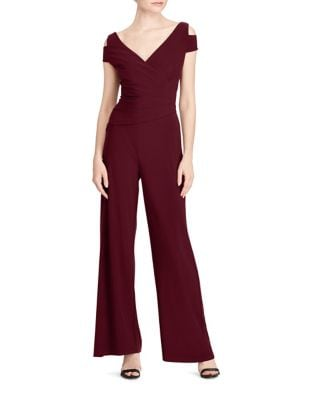 Photo of Petite Cold Shoulder Jumpsuit by Lauren Ralph Lauren - shop Lauren Ralph Lauren dresses sales