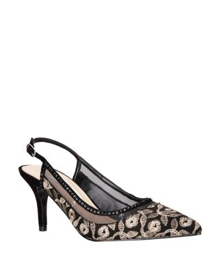 Tiphany Textile Slingback Pumps by Nina