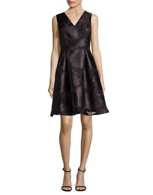 Floral Fit-and-Flare Dress by Ivanka Trump