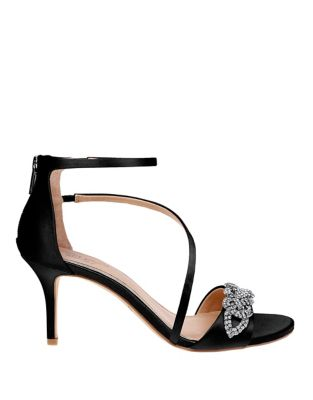 Yolanda Satin Sandals by Belle Badgley Mischka