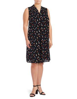Plus Plus Pattern Shift Dress 500087361025