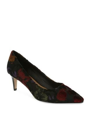 Gia Textile Embroidered Pumps by Tahari