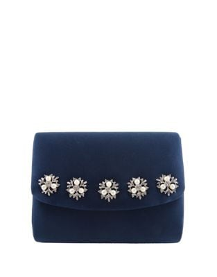 Dabney Pearl & Satin Convertible Clutch 500087362003