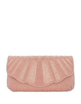 Lacey Beaded Envelope Clutch 500087362342