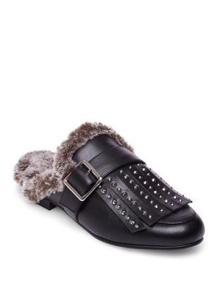 Photo of Vett Faux Fur Leather Mule by Design Lab Lord & Taylor - shop Design Lab Lord & Taylor shoes sales