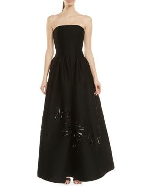 Strapless Floor-Length A-Line Gown by Halston Heritage