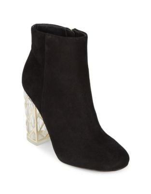 Shawna Leather Booties by Karl Lagerfeld Paris