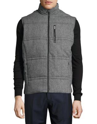 Flannel Puffer Vest @...