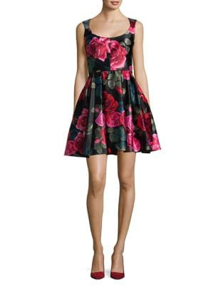 Floral Fit-&-Flare Dress by Betsy & Adam