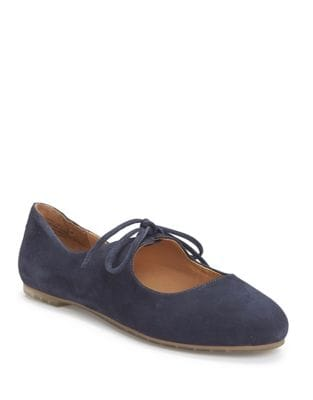 Cacey Suede Mary Jane Flats by Me Too