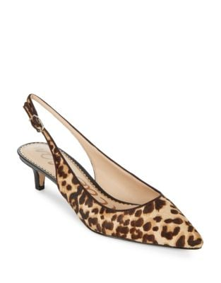 Ludlow Calf Hair Slingback Pumps by Sam Edelman
