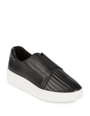 Park Leather Slip-On Sneakers by Donna Karan