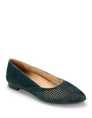 Posey Suede Flats by Vionic