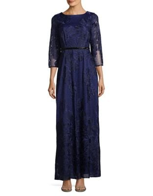 Plus Floral Embroidered Woven Dress by Brianna