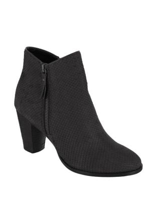 Maddock-S Snake Print Leather Booties by Mia