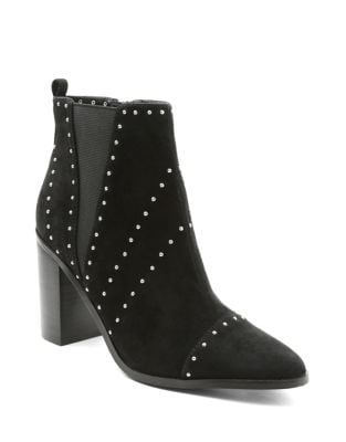 Delanie Suede Studded Booties by Kensie