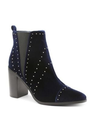 Delanie Velvet Studded Booties by Kensie