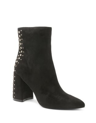 Tadyn Microsuede Studded Booties by Kensie
