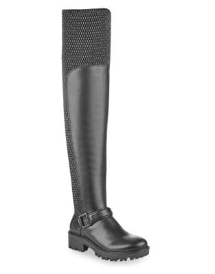 Textured Over-the-Knee Boots by KENDALL + KYLIE