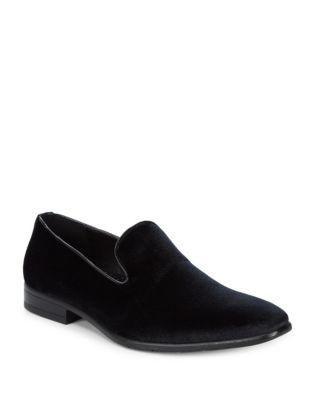 Velvet Slip-On Loafers...
