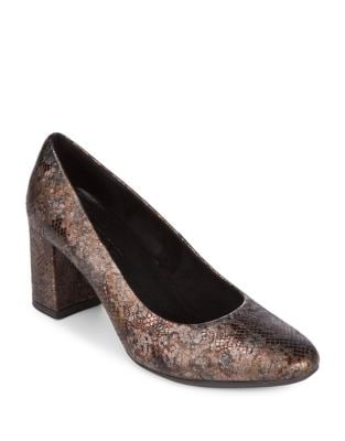 Seriously Textured Leather Pumps by The Flexx