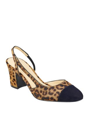 Liahly Goat Fur Slingback Pumps by Ivanka Trump