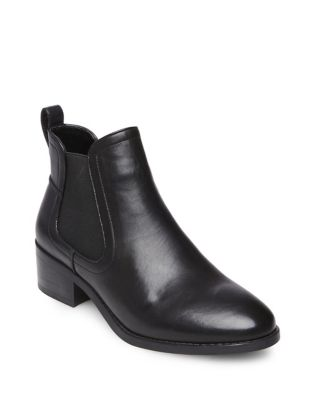 Dicey Leather Booties by Steve Madden