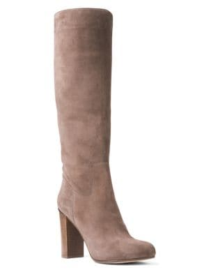 Janice Suede Knee-High Boots by MICHAEL MICHAEL KORS