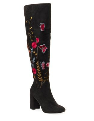 Lisette Faux Suede Over-The-Knee Boots by Nanette By Nanette Lepore