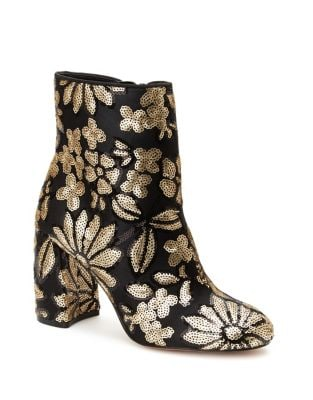 Lilly Embroidered Textile Booties by Nanette By Nanette Lepore