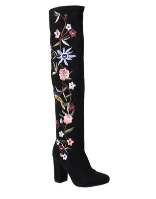 Serena Faux Suede Over-the-Knee Boots by Mia