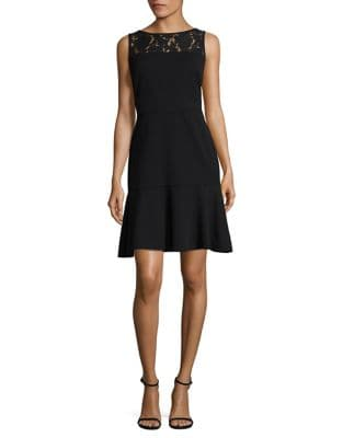 Lace Trim A-Line Dress by Taylor