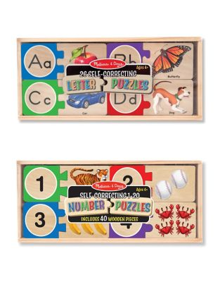 SelfCorrecting Letters and Numbers Puzzle Bundle