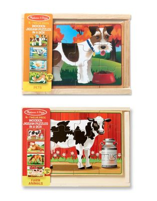 Pets and Farm Box Puzzle Bundle