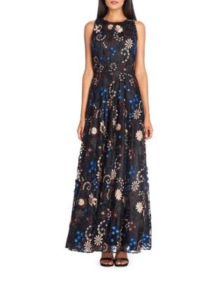 Floral Embroidered Maxi Dress by Tahari Arthur S. Levine
