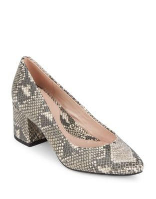 Rochelle Snake Print Leather Pumps by Taryn Rose