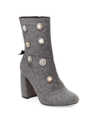 Linette Embellished Boucle Booties by Nanette By Nanette Lepore