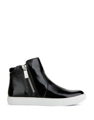 Kiera Patent Leather High Top Sneakers by Kenneth Cole New York