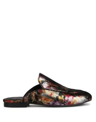 Wallice Metallic Leather Mules by Kenneth Cole New York