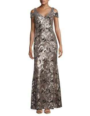 Sequined Mermaid Gown 500087489490
