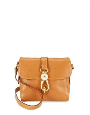 Mini Ashley Leather Messenger...