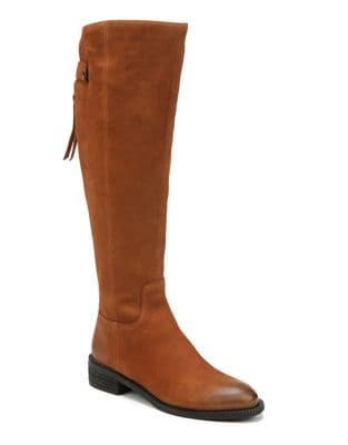 Brindley Wide Calf Knee-High Leather Boots by Franco Sarto