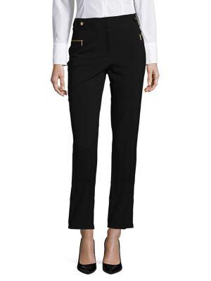 Slim-Fit Cropped Pants...