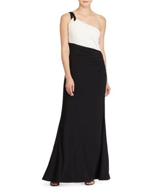Slim-Fit One-Shoulder Gown by Lauren Ralph Lauren