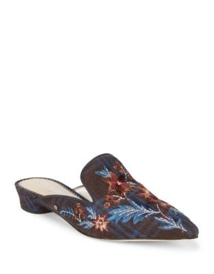 Aven Embroidered Floral Mules by Sam Edelman