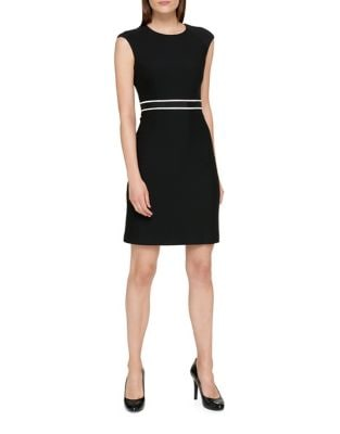 Ribbed Ponte Sheath Dress by Tommy Hilfiger